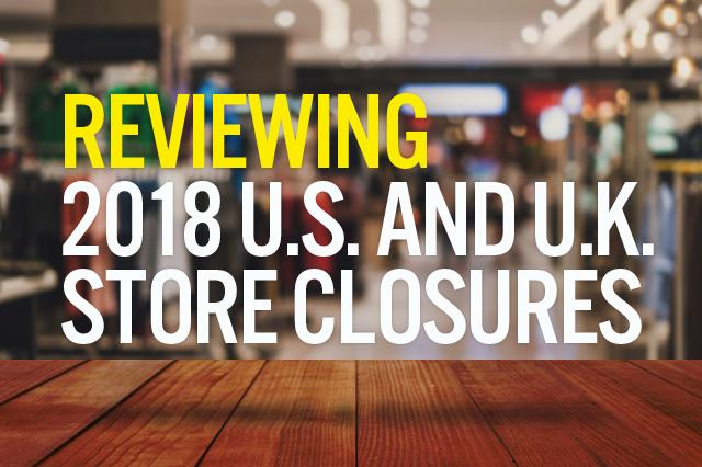 2018 Store Closures closings