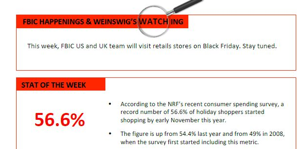 Weinswig's Weekly Insights by FBIC Global Retail Tech
