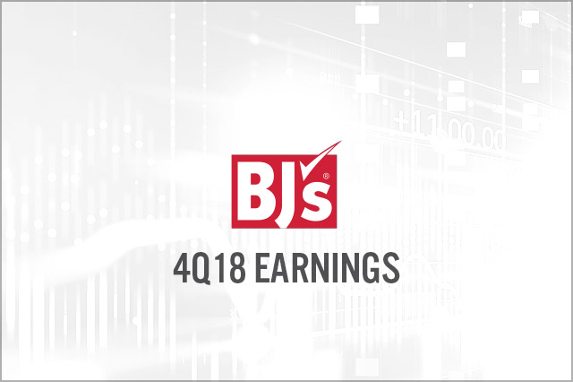 BJ's Wholesale Club (NYSE: BJ) 4Q18 Earnings: Beats