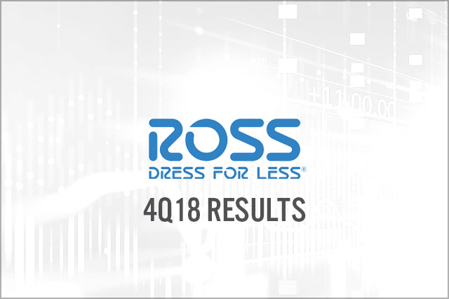 c49a89edc2e Ross Stores (NYSE  ROST) Fiscal 4Q18 Results  Beats Estimates
