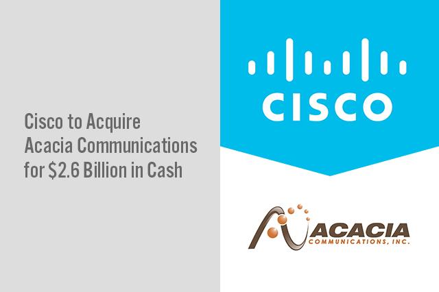 Cisco to Acquire Acacia Communications for $2 6 Billion in