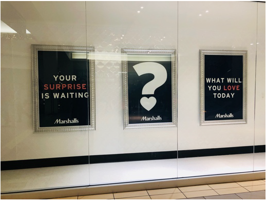 Marshalls' store display