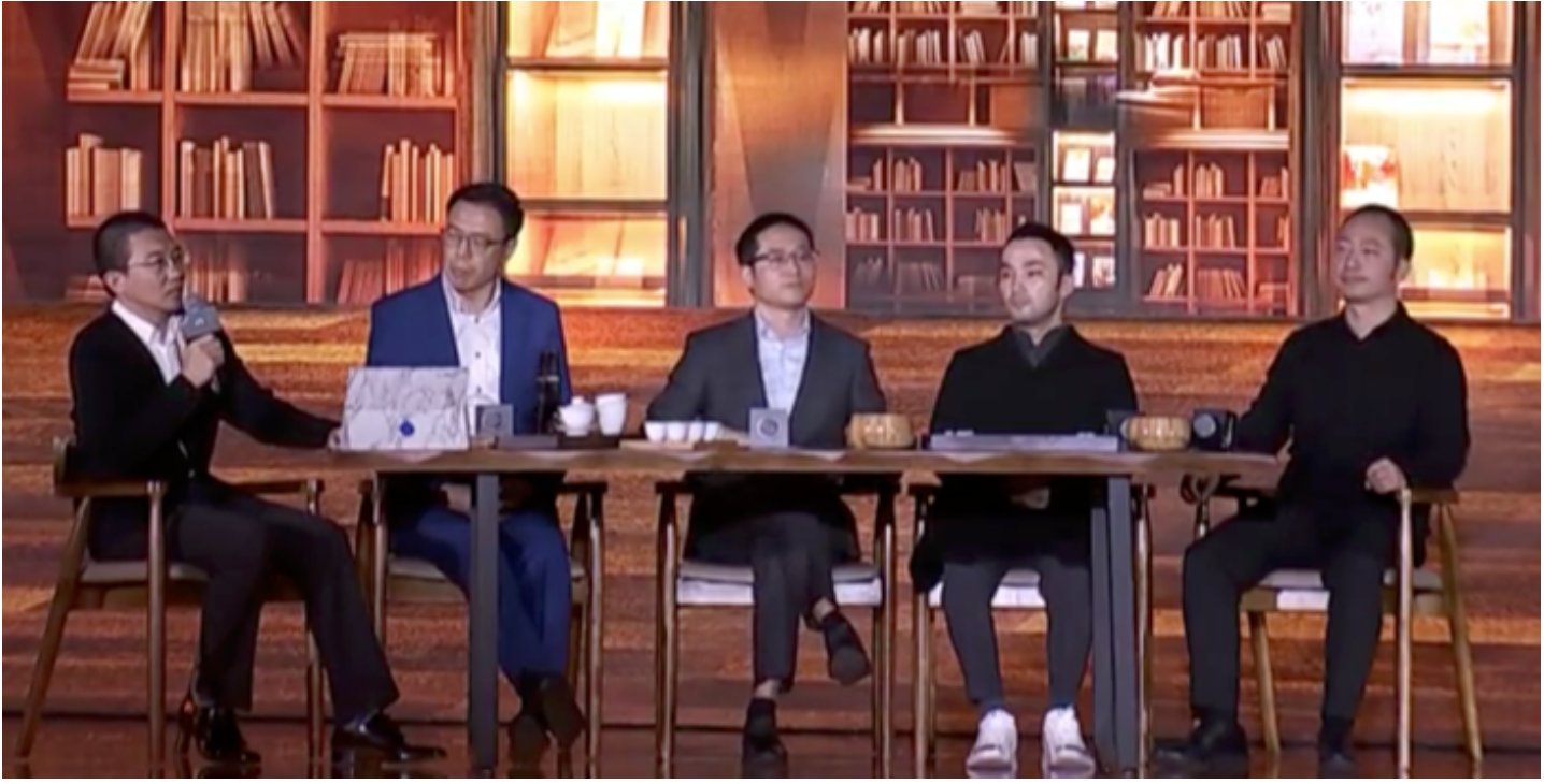The organization digitalization panel, from left to right: Huang Lei, President, Taobao University; Liu Jizhong, Chief Operating Officer, Nova Vision; Zhang Jianfeng, Chief Technology Officer, Alibaba; Chen Zebin, Chief Executive Officer, Libai; Chen Hang, Chief Executive Officer, Ding Talk Source: Coresight Research