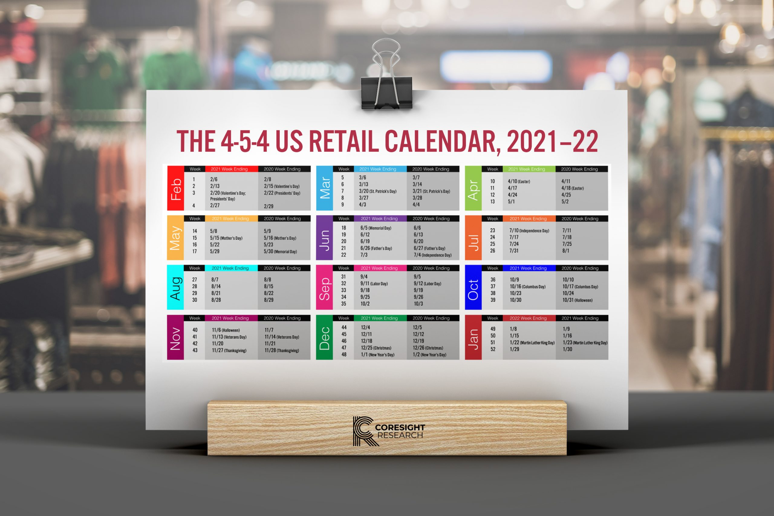 2021 Retail Calendar The 4 5 4 US Retail Calendar, 2021–22: Your Guide to the Retail